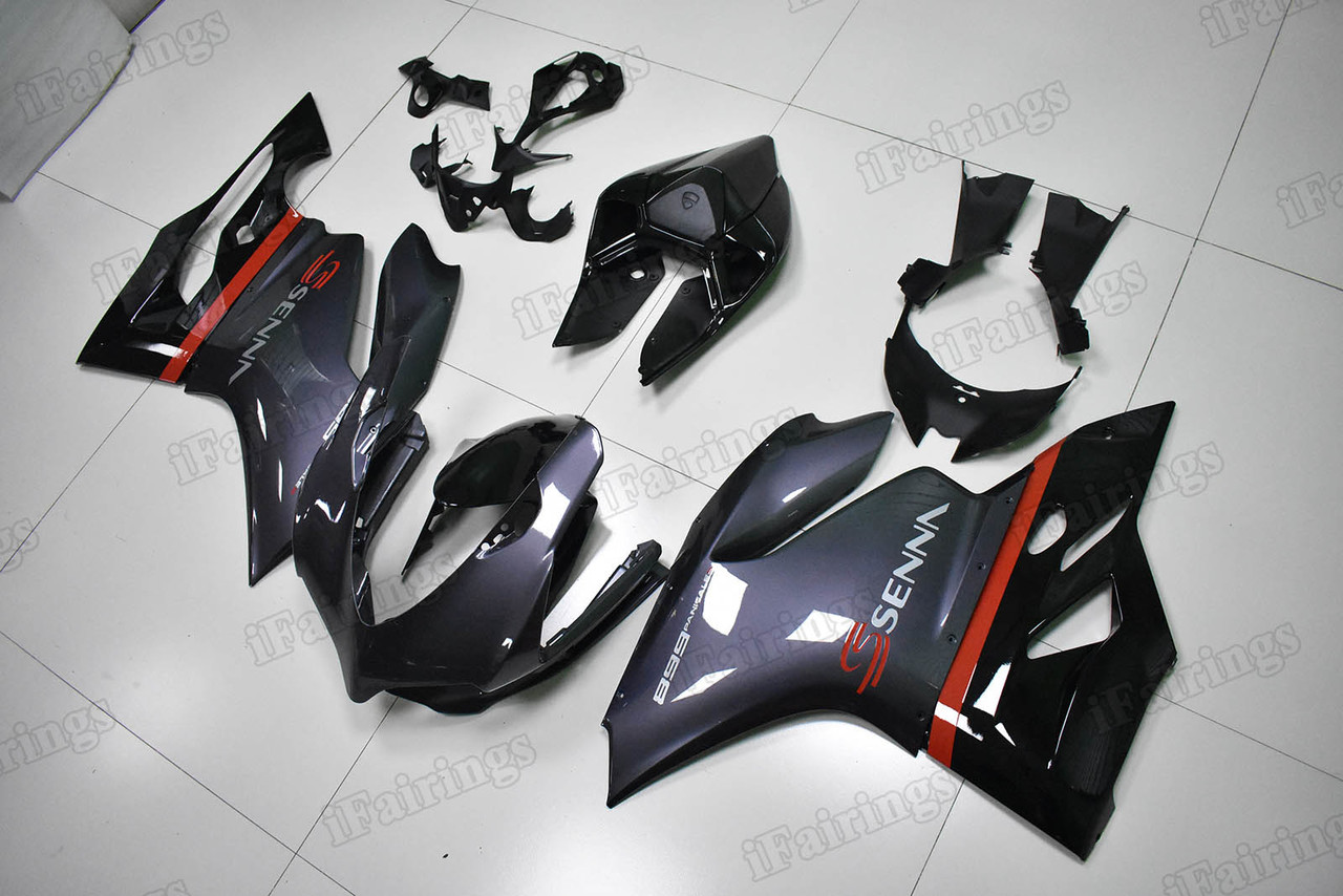 Motorcycle fairings/bodywork for Ducati 899/1199 SENNA color scheme.