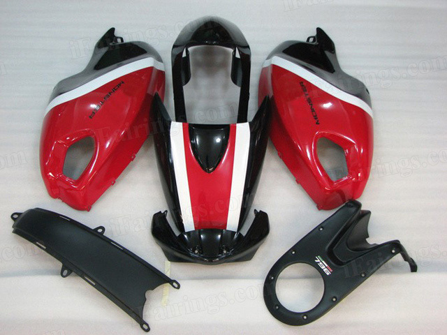 Ducati Monster 696/796/1100 red and black fairings.
