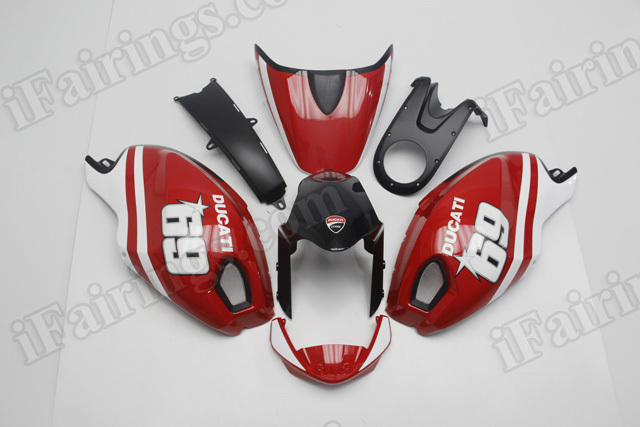 Ducati Monster 696/796/1100 Nicky Hayden replica fairings.