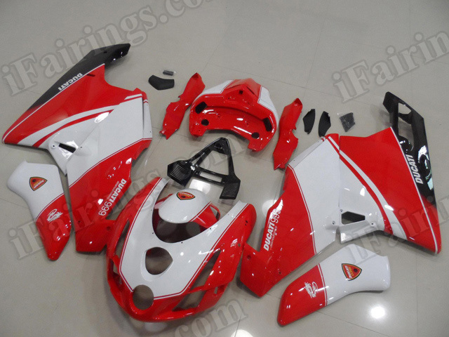 2003 2004 Ducati 749/999 red, white and black scheme fairings/bodywork.
