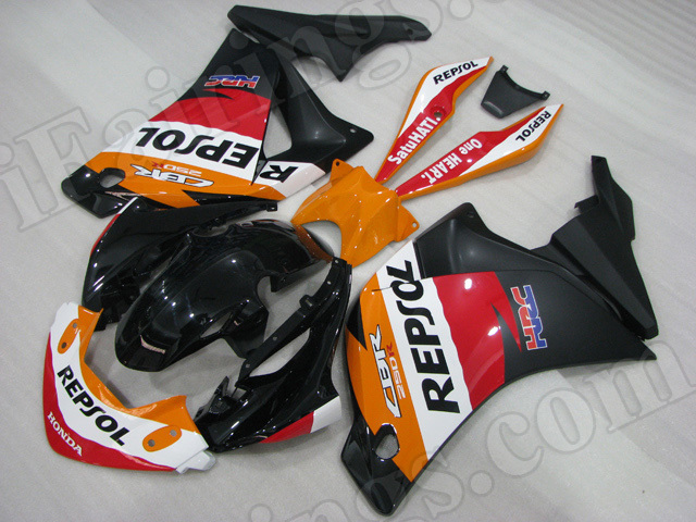 Motorcycle fairings for Honda 2011 2012 2013 CBR250R MC41 Repsol replica.