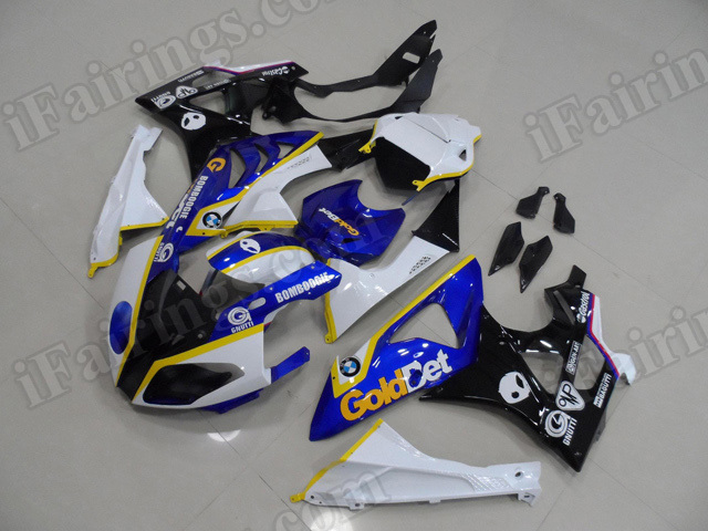 2009 2010 2011 2012 2013 2014 BMW S1000RR WSBK Goldbet Fairing Kit.