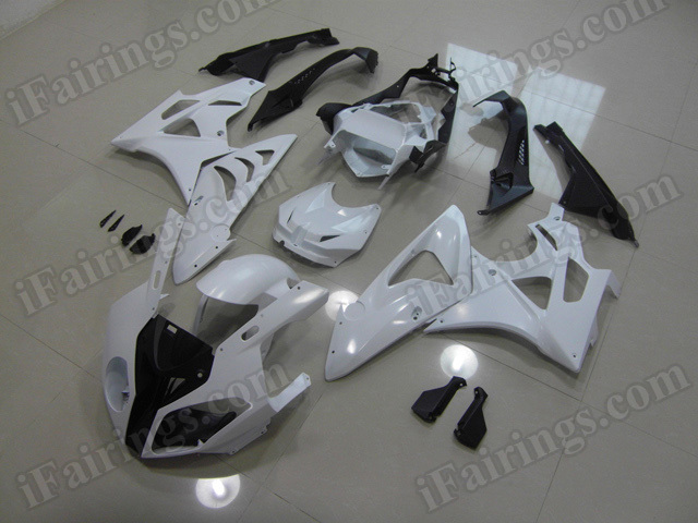 2009 2010 2011 2012 2013 2014 BMW S1000RR Matte White Fairing Kit.