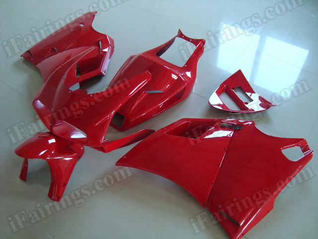 Motorcycle fairings for Ducati 748/996/916 all red.