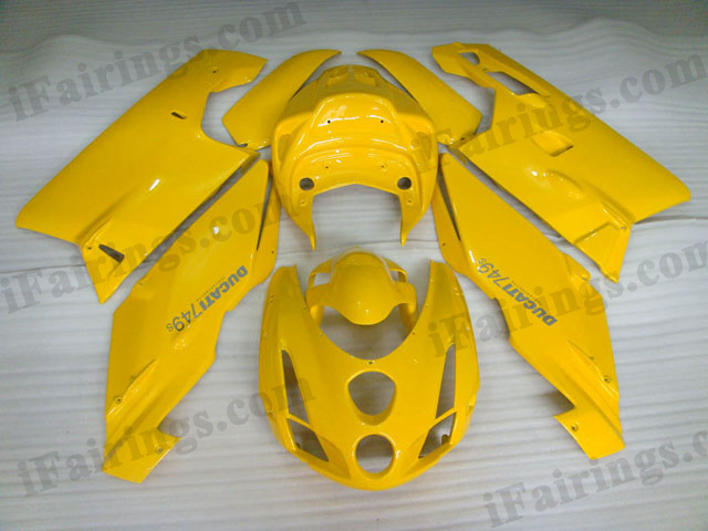 aftermarket fairing kit for Ducati 749/999 2003 2004 yellow.