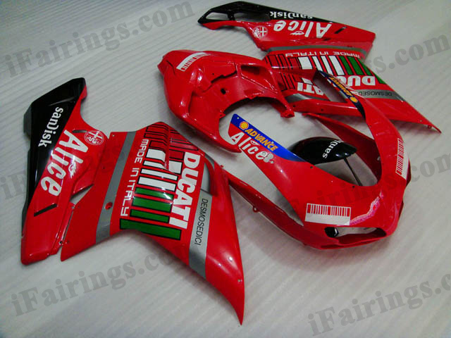 aftermarket fairing kit for Ducati 848/1098/1198 Alice.