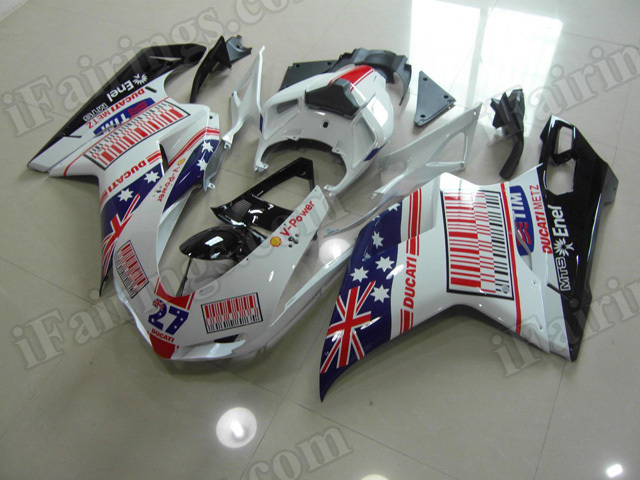 Motorcycle fairings/bodywork for Ducati 848/1098/1198 Australia flag graphic.