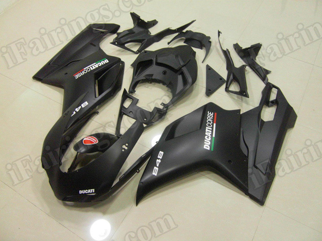 Ducati 848/1098/1198 matte black corse fairings/bodywork.