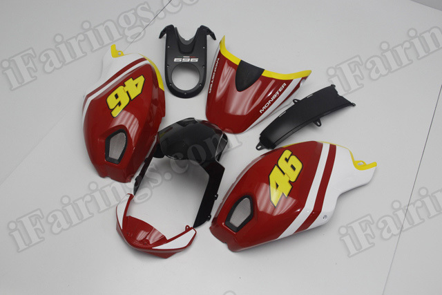 Ducati Monster 696/796/1100 Volentino Rossi MotoGP replica fairings.