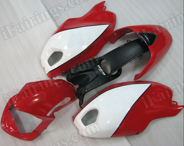 Ducati Monster 696/796/1100 red and white fairings.