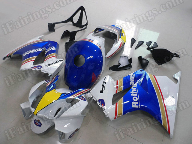 Motorcycle fairings/bodywork for Honda VFR800 2002 to 2012 Rothmans replica.