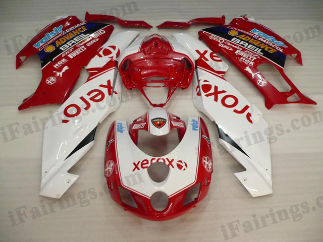 aftermarket fairing kits for Ducati 749/999 2005 2006 white and red xerox.