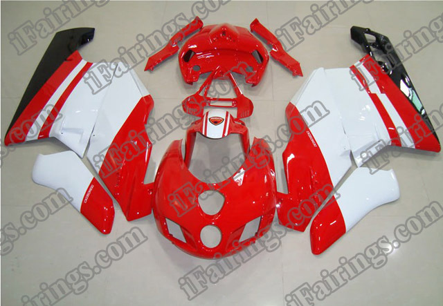 aftermarket fairing kit for Ducati 749/999 2005 2006 red and white.