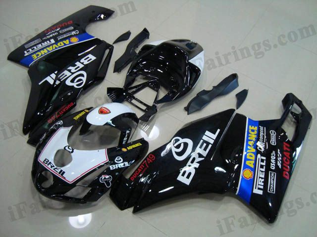 replacement fairing kit for Ducati 749/999 2003 2004 black BREIL.