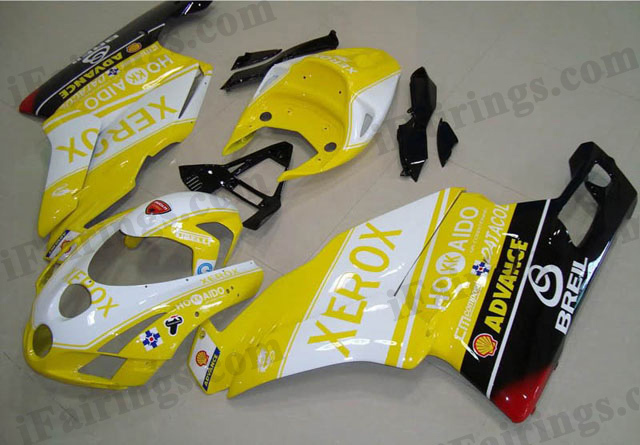 aftermarket fairing kit for Ducati 749/999 2003 2004 yellow xerox.