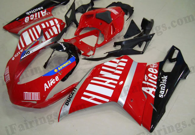 replacement fairing kit for Ducati 848/1098/1198 Alice.
