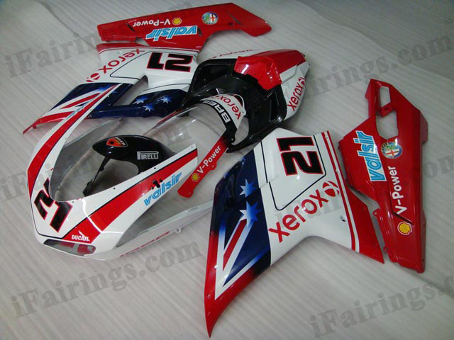 aftermarket fairing kit for Ducati 848/1098/1198 bayliss.