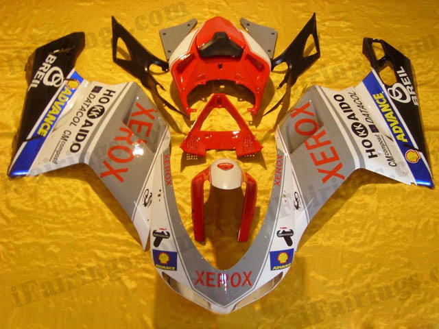 aftermarket fairing kits for Ducati 848/1098/1198 xerox decals.