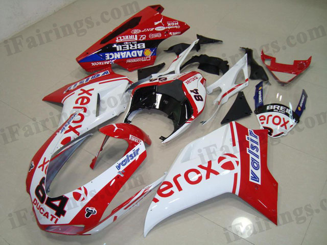 aftermarket fairing kit for Ducati 848/1098/1198 xerox design.