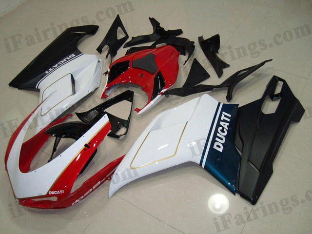 aftermarket fairing kit for Ducati 848/1098/1198 red/white/blue/black.