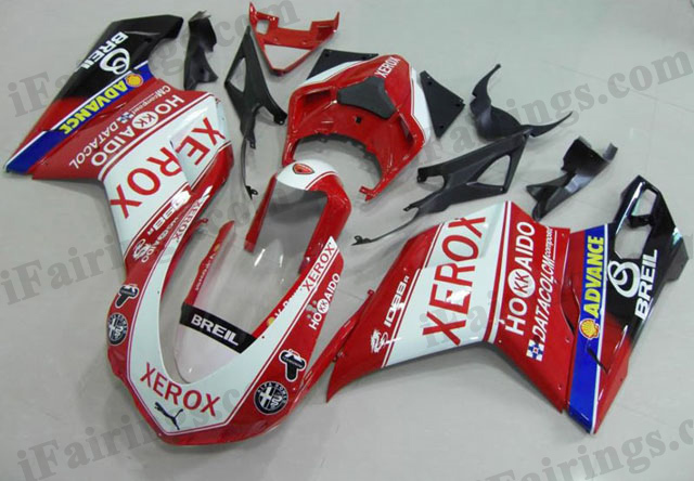 aftermarket fairing kit for Ducati 848/1098/1198 xerox scheme.