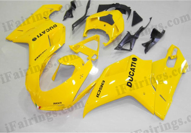 aftermarket fairings for Ducati 848/1098/1198 yellow.