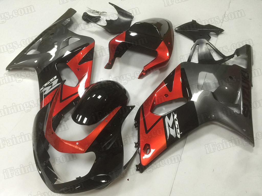 2001 2002 2003 Suzuki GSXR 600, GSXR750 black and grey fairings.