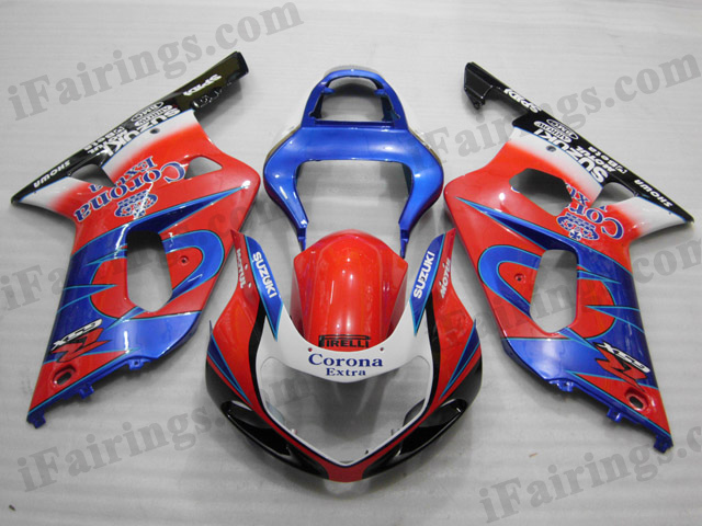 2001 2002 2003 Suzuki GSXR600/750 red Corona fairing kits.