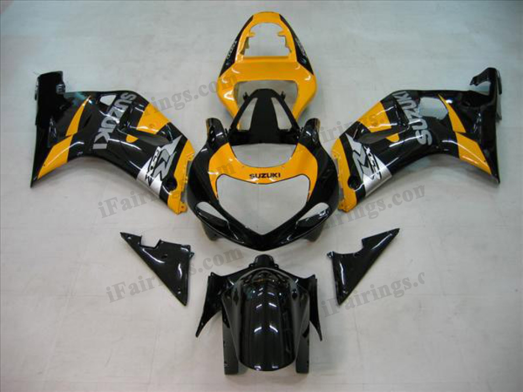 2001 2002 2003 GSXR600/750 custom fairing yellow/black scheme