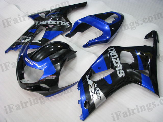 2001 2002 2003 GSXR600/750 custom fairing blue/ black scheme.