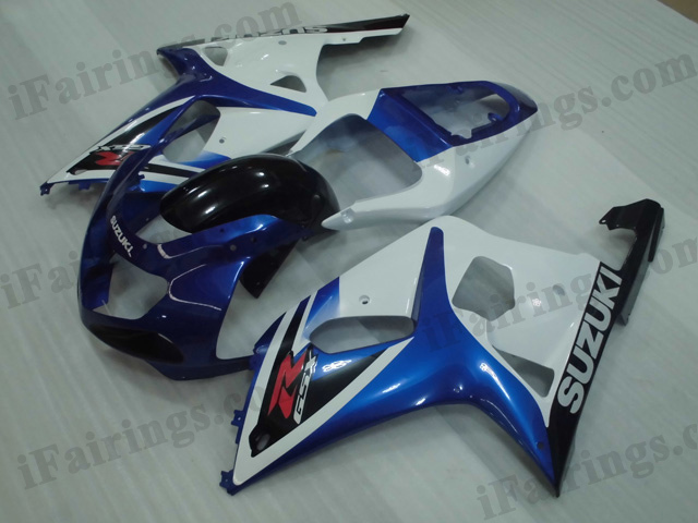 2001 2002 2003 Suzuki GSXR600/750 blue and black fairing kits.