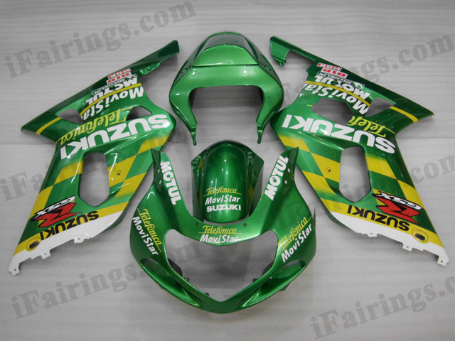 2001 2002 2003 Suzuki GSXR600/750 Movistar Telefonica fairing sets.