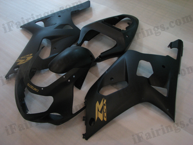 2001 2002 2003 Suzuki GSXR600/750 matt black fairing sets.