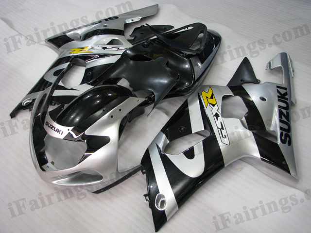 Gixxer 2001 2002 2003 GSXR600/750 silver/black custom fairings