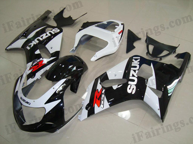 gixxer 2001 2002 2003 GSXR600/750 black and white fairings