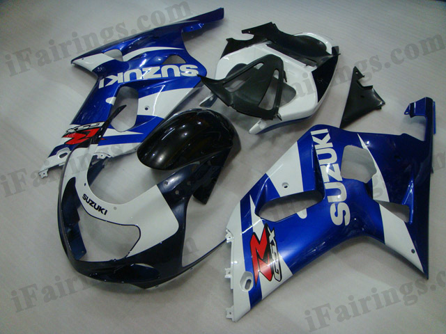 Gixxer 2001 2002 2003 GSXR600/750 custom fairing blue/white