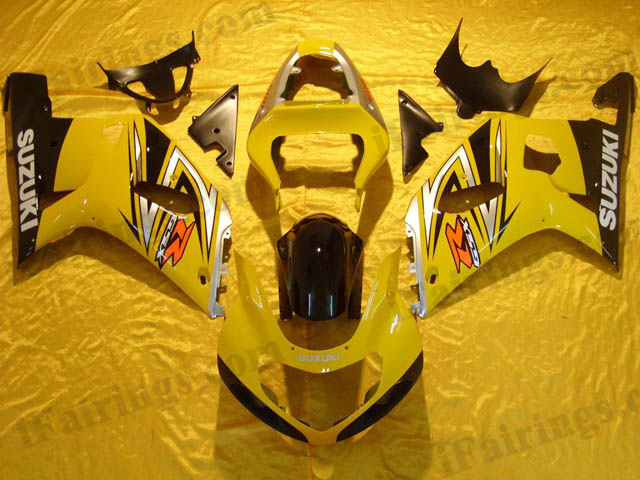 2001 2002 2003 GSXR600/750 factory scheme fairing yellow/black