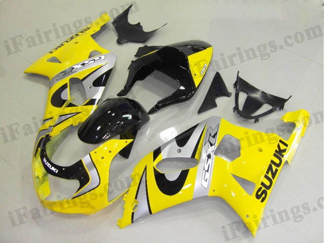 2001 2002 2003 GSXR600/750 factory scheme fairing yellow and black.
