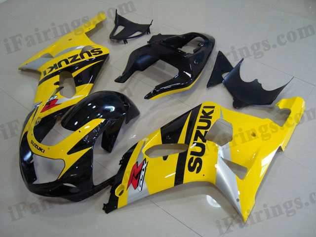 gixxer 2001 2002 2003 GSXR600/750 yellow and black fairings