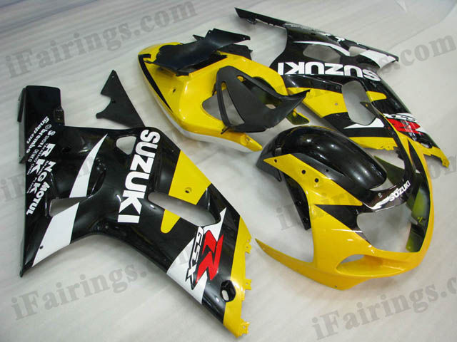 2001 2002 2003 GSXR600/750 custom fairing yellow/black color.
