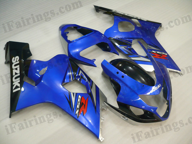 2004 2005 Suzuki GSXR600/750 blue and black fairing kits.