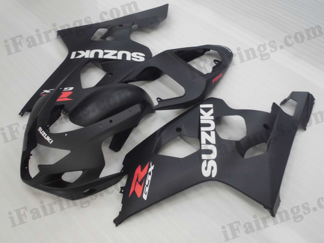 2004 2005 Suzuki GSXR600/750 matt black fairing kits.