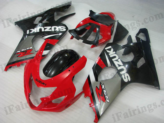 GSXR600/750 2004 2005 red,silver and black fairings.