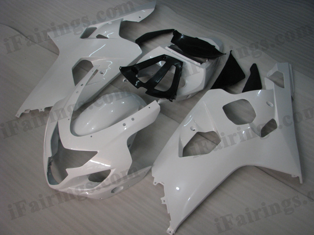 2004 2005 Suzuki GSXR600/750 white fairing kits.
