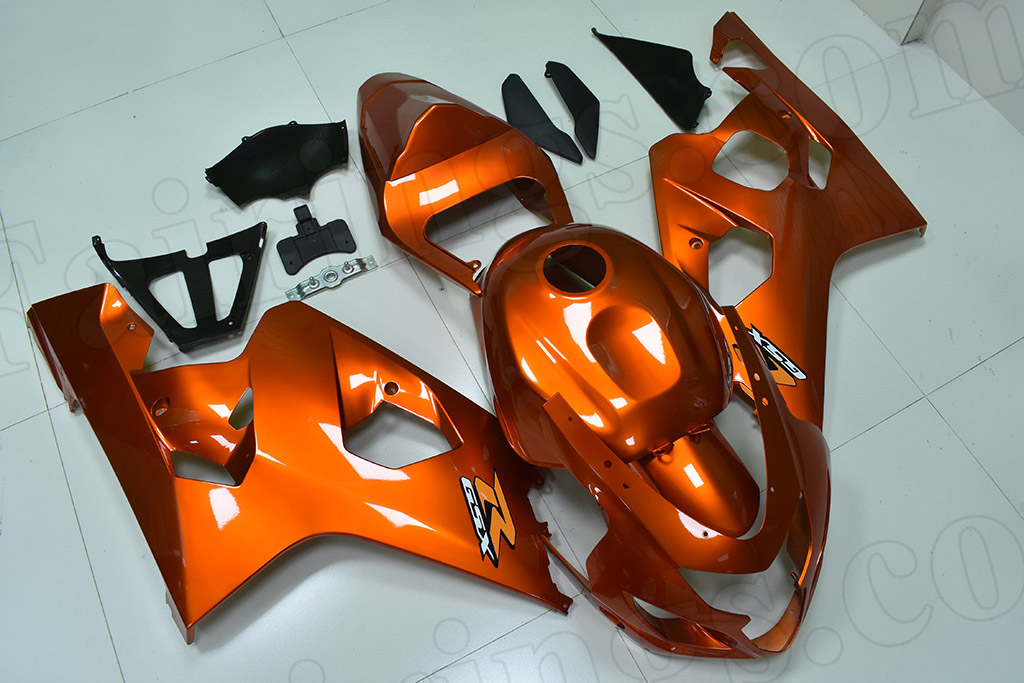 2004 2005 Suzuki GSX-R600, GSX-R750 gold fairings.