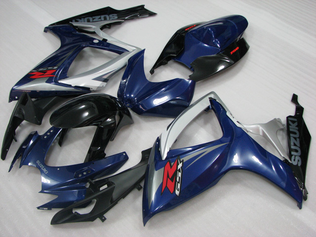 2006 2007 Suzuki GSXR600/750 blue and black factory fairing kits.