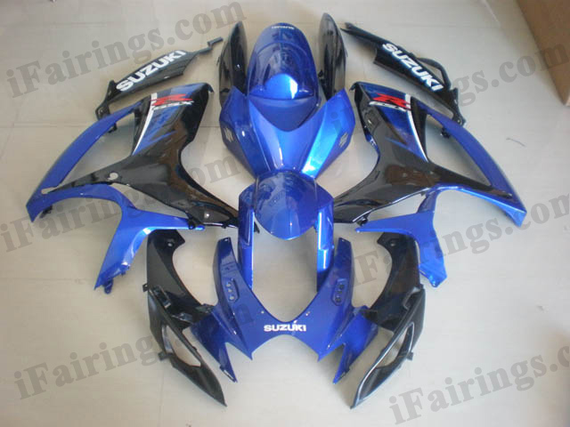 2006 2007 GSXR600/750 blue and black color scheme fairings.