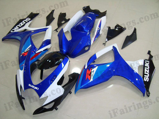 2006 2007 GSXR600/750 blue/white/black factory color fairing.