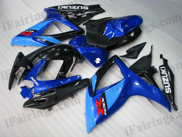 2006 2007 GSXR600/750 blue/ black fairings and body kits.
