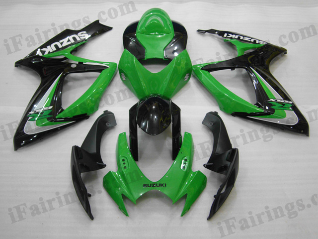 2006 2007 Suzuki GSXR600/750 green and black fairing sets.